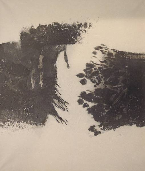 Pen and ink on rice paper, 45×35 cm