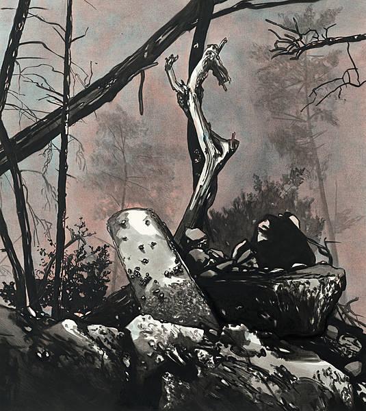Die Nacht – 2013 – Öl auf Papier, 83 x 73