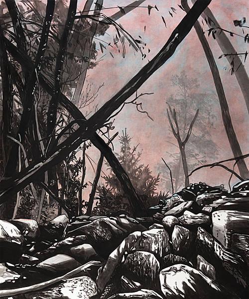 Die Rückkehr – 2014 – Öl auf Papier, 175×146