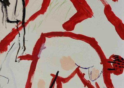 Rote Mander - Erntehelfer 66 x 44 cm