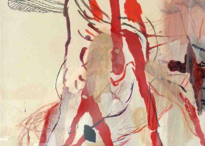 Rote Mander - Sämann 66 x 44 cm