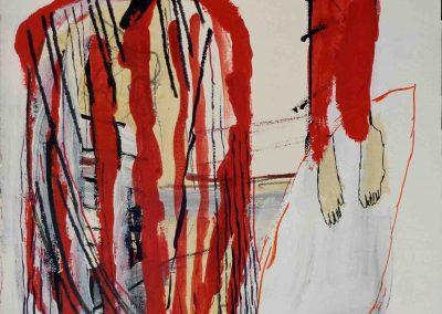 Rote mander - Mario und der Patagonier 66 x 44 cm