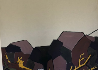 Baumgrenze, 2016. Öl auf Leinwand, 175 x 130 cm
