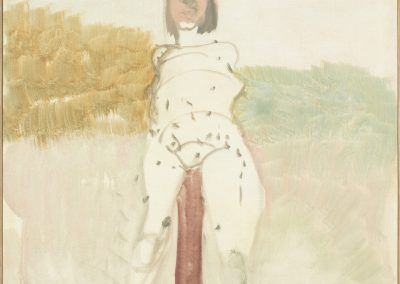 Akt, Pfahl, 2017 | Leimfarbe auf Leinwand, 120 x 95 cm