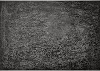 """aus der Serie """"wandering in dreams"""", Graphit und Bleistift auf Papier / ungerahmt 2019 84 x 60 cm - (auf der Rückseite des Blattes signiert und datiert)"""