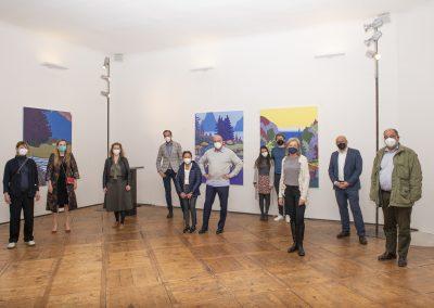 """Das Galerieteam bei der Eröffnung zur Ausstellung """"SehSucht"""""""