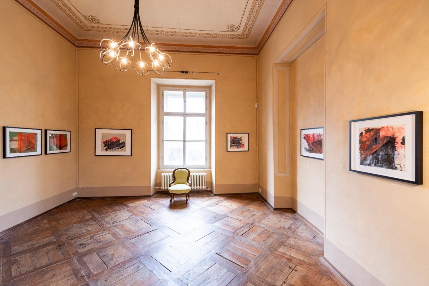 Ausstellungsraum in der Galerie Schloss Parz