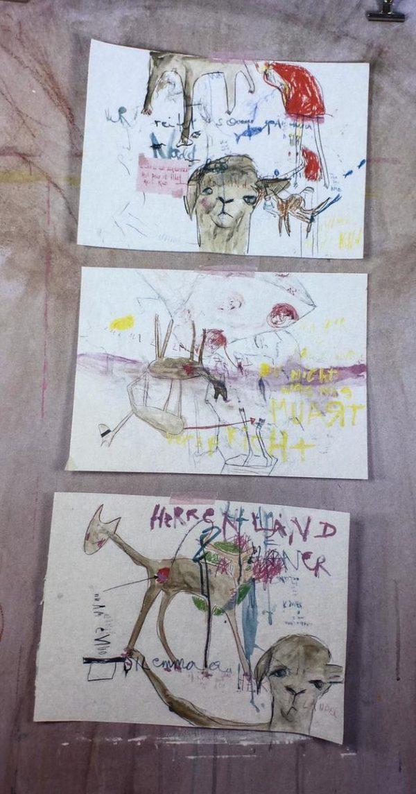 Der Erlkönig und sein Lama Serie (Triptychon)