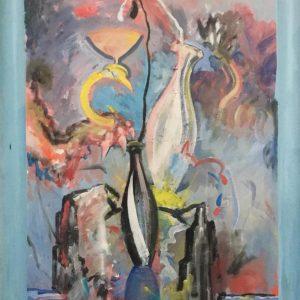 """Kunstwerk - Zeustränke von Christian Ludwig Attersee auf der Kunstmesse """"Linzer Kunstsalon"""" - Größe: 95x72 - Preis: 33.000€"""