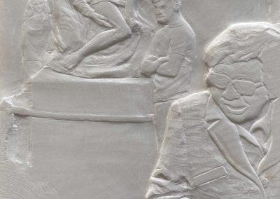 """Kunstwerk - Florentina Pieta von Peter Niedertscheider auf der Kunstmesse """"Linzer Kunstsalon"""" - Größe: 23x18 - Preis: 1700"""
