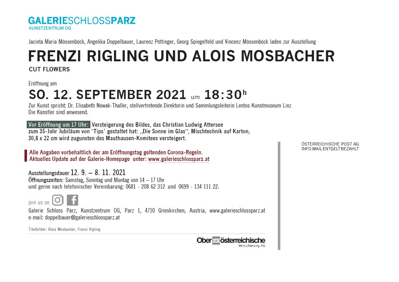 Informationen zur Ausstellung CUT Flowers mit Alois Mosbacher und Frenzi Rigling
