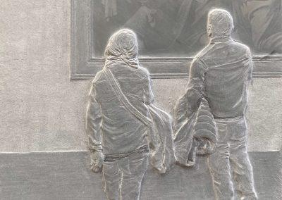 """Kunstwerk - Caravaggio von Peter Niedertscheider auf der Kunstmesse """"Linzer Kunstsalon"""" - Größe: 28x19 - Preis: 1800"""